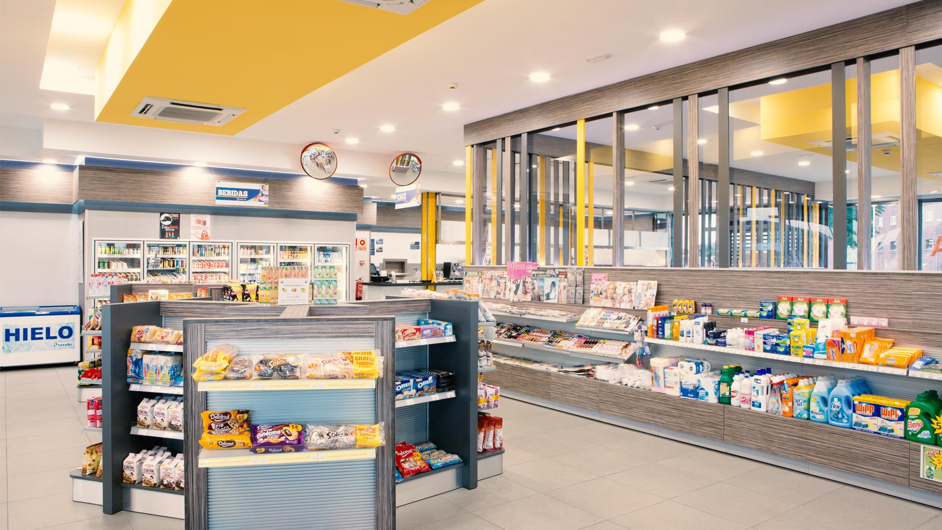 tiendas de conveniencia en las estaciones de servicio