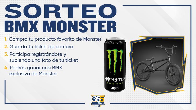 Sorteo Monster y bicicleta BMX