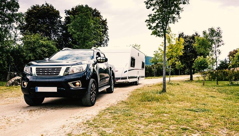 Viajar en vacaciones caravana